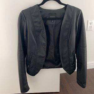 Dynamite Faux Leather Cardigan/Jacket